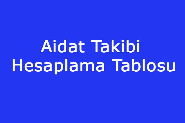 Aidat Takip Tablosu